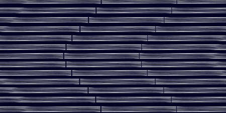 White modern stripes on blue background, seamless pattern hand drawn surface design for home. 写真素材 - 151036234