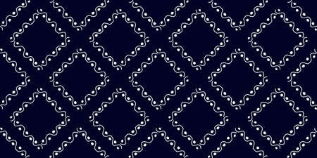 White modern stripes on blue background, seamless pattern hand drawn surface design for home. 写真素材 - 151036578
