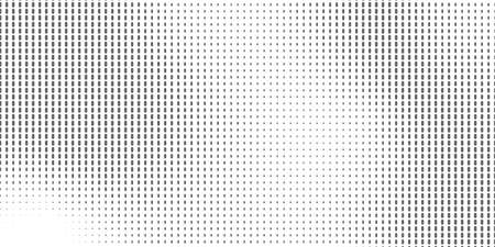 Gradient Pop-art backdrop. Vector surface design Abstract monochrome half-ton White and black texture with dots.
