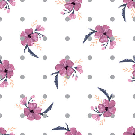 Fashionable cute pattern in native popies flowers. Flower seamless background for textiles, fabrics, covers, wallpapers, print, gift wrapping or any purpose  イラスト・ベクター素材