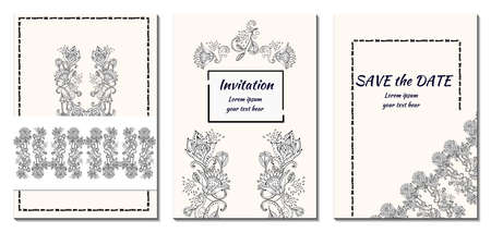 Cover greeting design. Modern template with indian ornament for wedding design or greeting card any purpose.