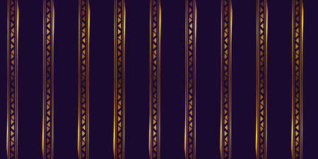 Abstract shapes geometric pattern with lines. Simple graphic print. A seamless vector background. Dark and gold texture.