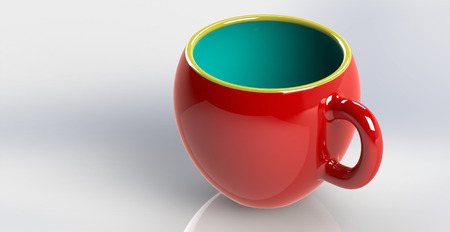 Red cup of tear Imagens