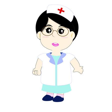 Cute nurse wearing uniform Vector