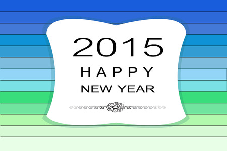 New Year 2015 wood background Vector