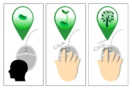 input device: Haga clic en un rat�n de ordenador - Ilustraci�n