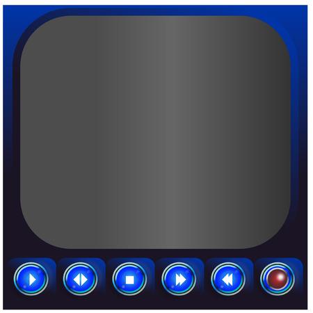 メディア プレーヤーのボタン - イラスト