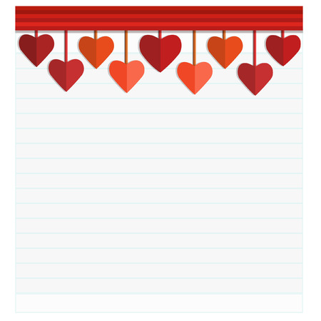 eart: Happy Valentines Day Card with Heart. Vector Illustration Illustration