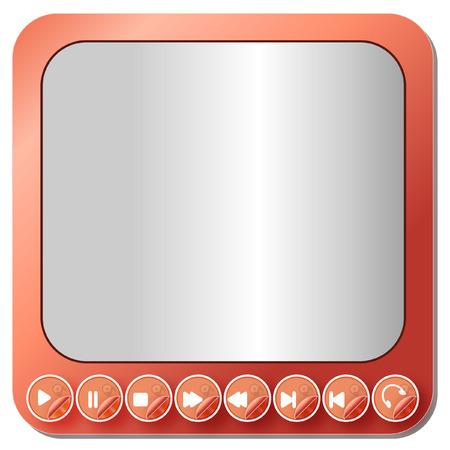 メディア プレーヤーのボタン コレクション - イラスト  イラスト・ベクター素材