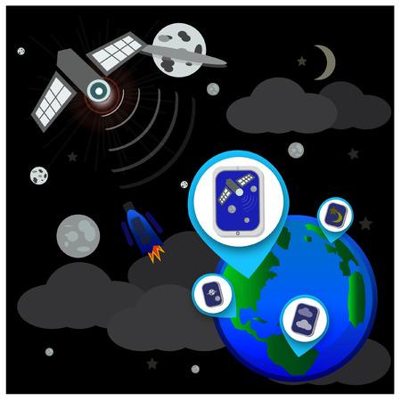 telecommunications equipment: Global Telecommunications - Illustration