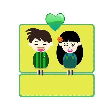 bonding: Valentine Card. - Illustration Illustration