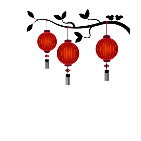 Chinese Lantern Background - Illustration