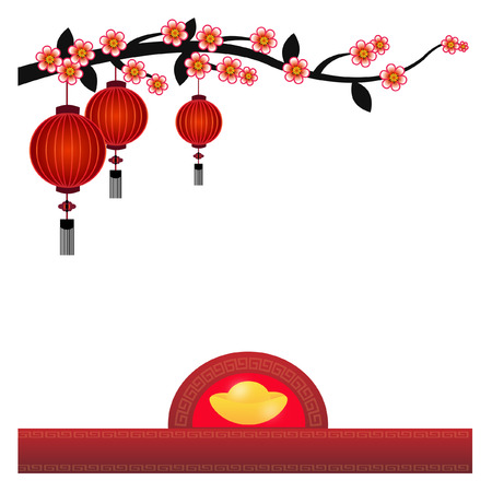 paper lantern: Chinese Lantern Background - Illustration