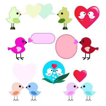 Lover birds On a white background Vector