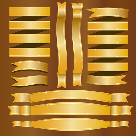 electrical component: Gold banners - Illustration