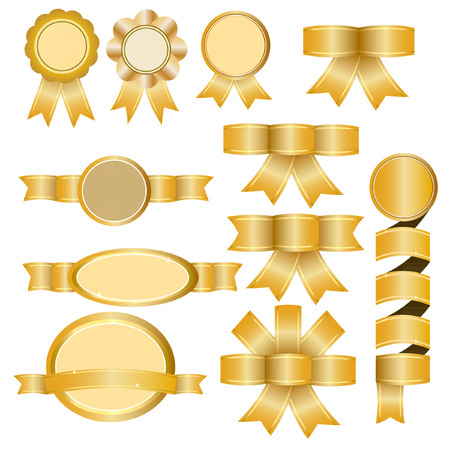 Gold Ribbon - Illustration Ilustrace