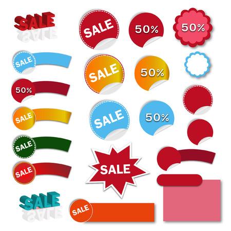 Vector illustration of sales banner - Illustration Vector