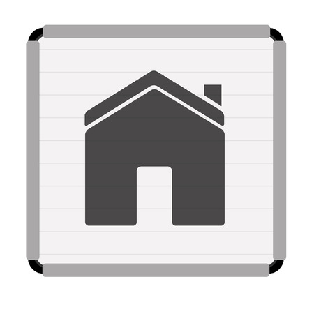 housing problems: label home Illustration