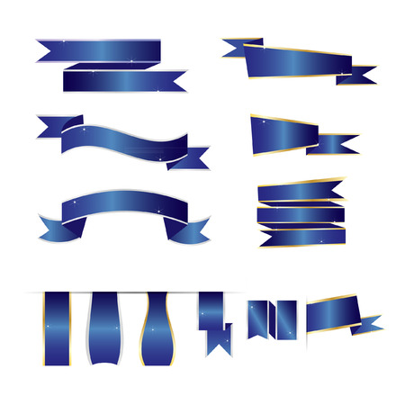 ribbon vector blue