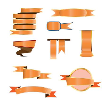 ribbon: ribbon vector orange