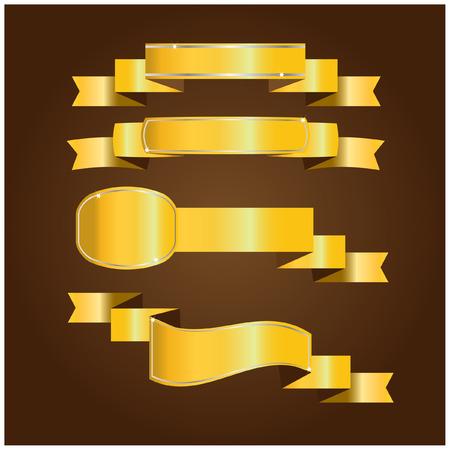 and gold: Gold ribbon Illustration