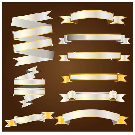silver ribbon: Gold and silver ribbon