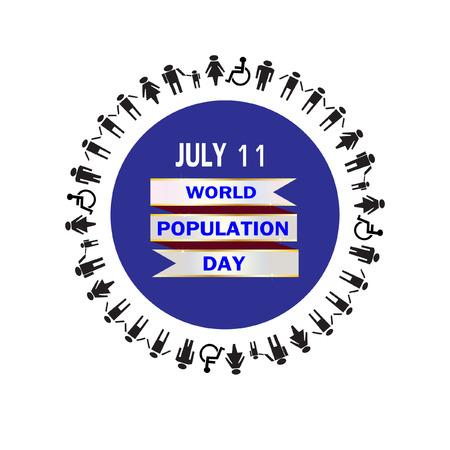 población: La población mundial del vector del día Vectores