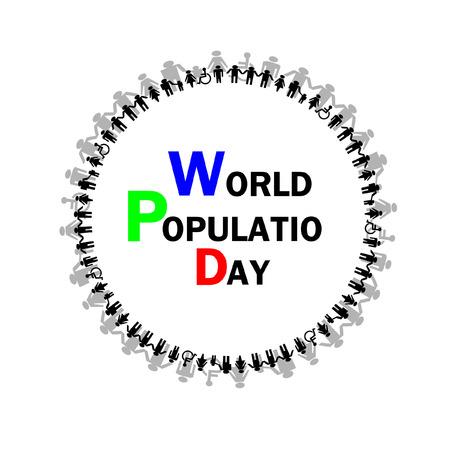 poblacion: La poblaci�n mundial del vector del d�a Vectores