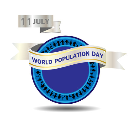 poblacion: La población mundial del vector del día Vectores
