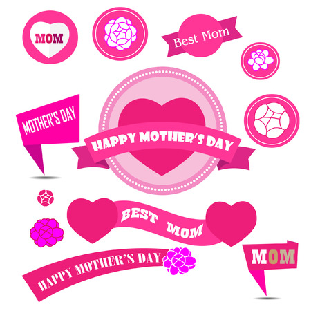 decoration elements: mother day decoration elements Illustration