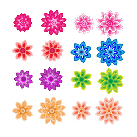 flower petals: Flower petals overlapping colorful vector
