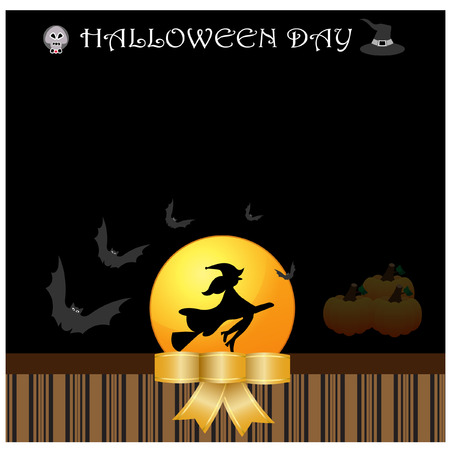 halloween background: Halloween day background vector Illustration
