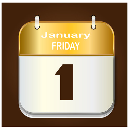 date: Date january vector