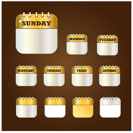 days: Days label design element vector