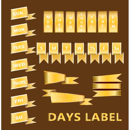 days: Days label design element