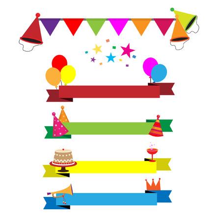 celebration party: Ribbon party celebration vector Illustration