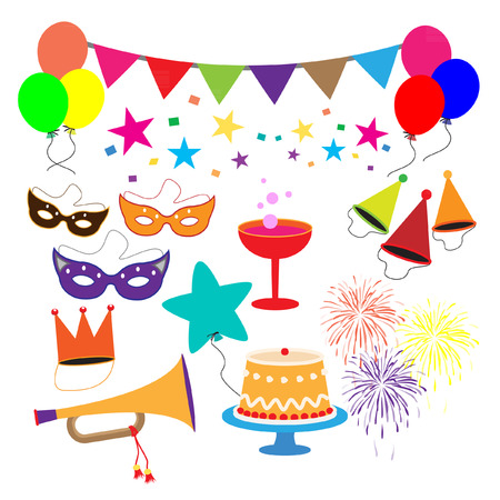 celebration party: Party celebration elements vector