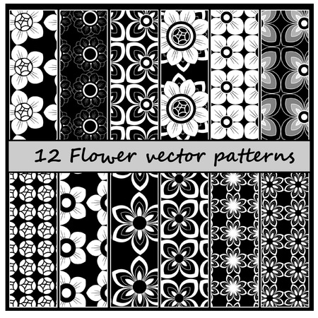 ornament paper: 12 floral vector pattern
