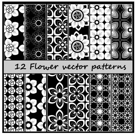 floral pattern: 12 floral vector pattern