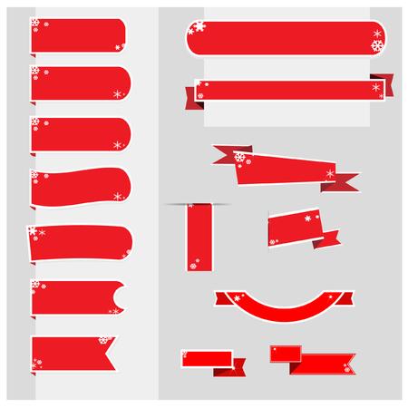 moños navideños: vector de cintas de la bandera de navidad