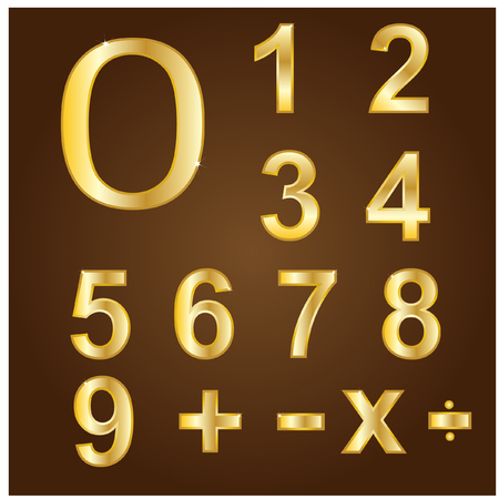numbers: Gold numbers Illustration
