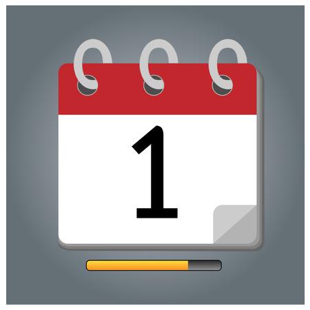 first day: First day calendar vector
