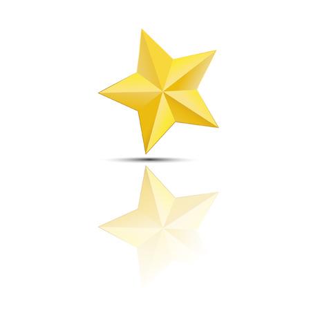 star background: Golden star on white background Illustration
