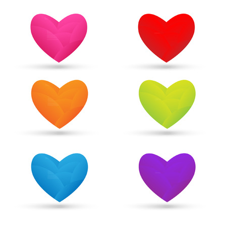 colorful heart: Colorful heart on white background