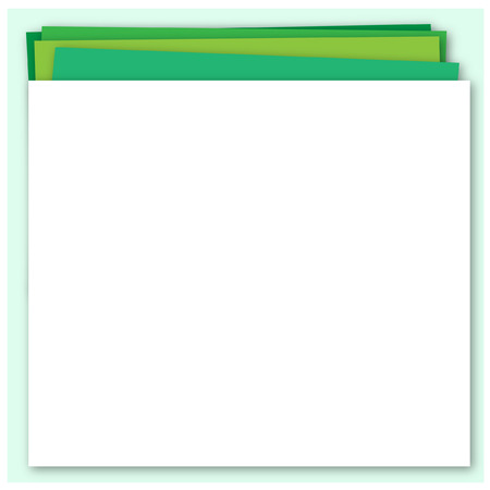 layers: Abstract green background with paper layers