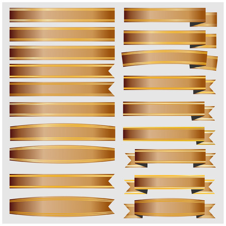 ribbin: Bronze ribbons and  with gold