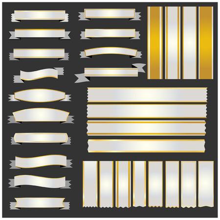 silver: Set silver ribbons