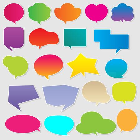 at communication: Colorful communication bubbles