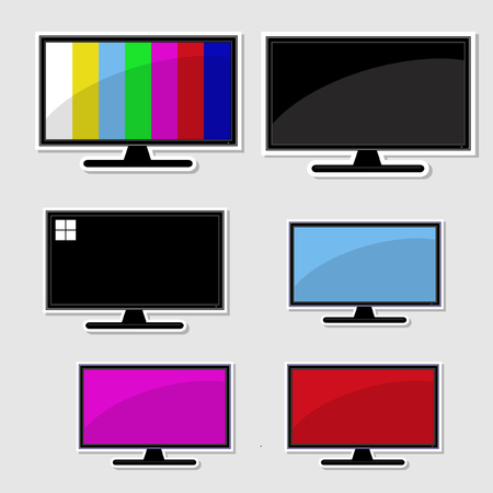 Set of televison banner Vectores