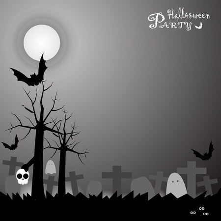 party background: Halloween party scary background vector